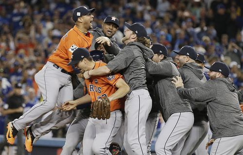 The Astros won their first ever World Series yesterday. (AP)