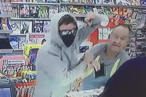The thief made a getaway heading towards Mitcham Road. (9NEWS EXCLUSIVE)