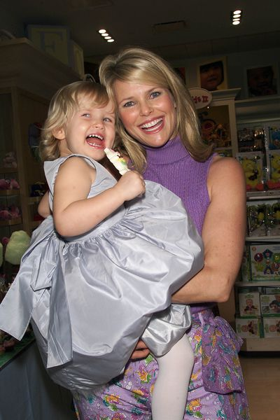 <p>Then: Model Christie Brinkley holding daughter Sailor in New York in 2001.</p>