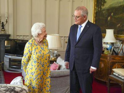 The Queen meets Prime Minister Scott Morrison