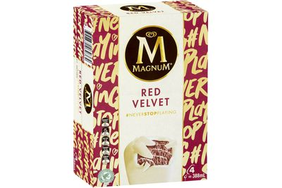 Magnum Red Velvet: 22.7g sugar — almost 6 teaspoons