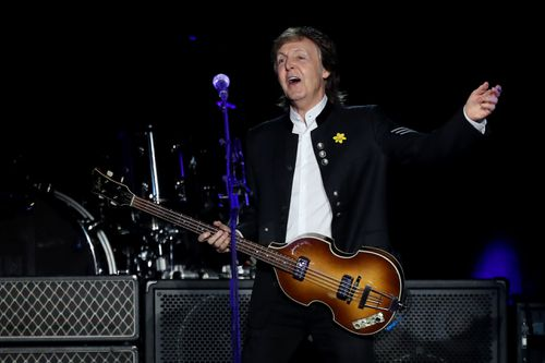 McCartney rocked out in Perth last night. (AAP)