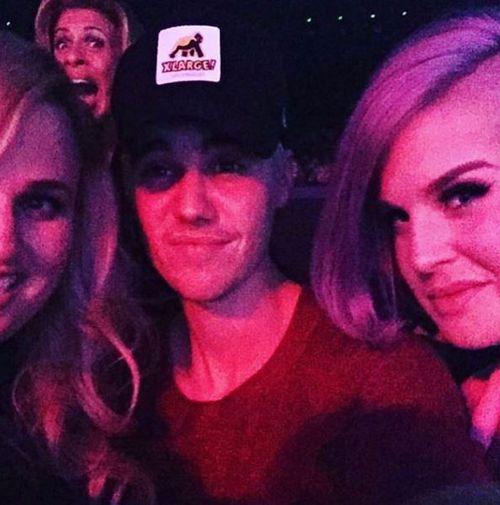 Osbourne uploaded this selfie with Justin Bieber and Rebel Wilson to Instagram.