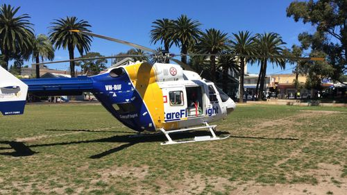 The CareFlight helicopter was summoned. (CareFlight)