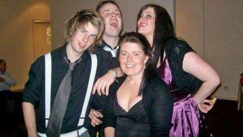 Sarah, pictured before her illness with her siblings, brothers Taylor and Josh and sister Brooke.