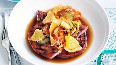 """<a href=""""http://kitchen.nine.com.au/2016/05/16/14/02/kylie-kwong-grilled-black-berkshire-pig-with-organic-sweet-and-sour-sauce"""" target=""""_top"""">Kylie Kwong's grilled black Berkshire pig with organic sweet and sour sauce</a>"""