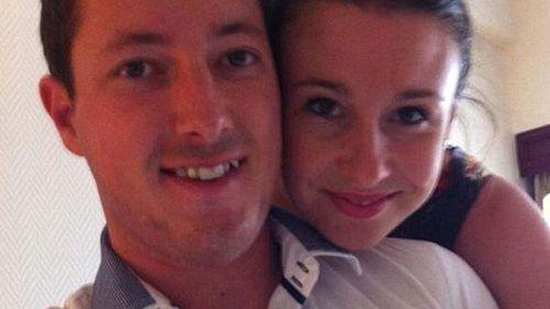Murdered NSW woman Stephanie Scott with her fiance Aaron.