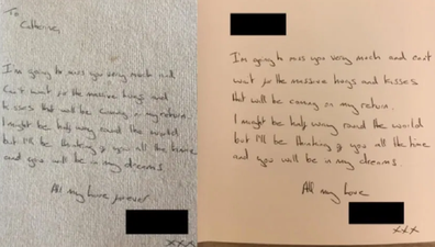 The women received identical Christmas cards from their 'boyfriend'.