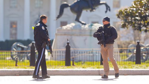 A man apparently shot himself along the north fence of the White House midday, according to the Secret Service. (AAP)