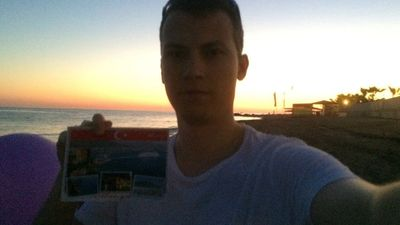 A beach in Turkey. (Kartki do Taty)