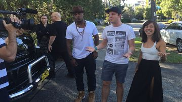 Ne-Yo interview with Mike E and Emma disrupted by fire alarm