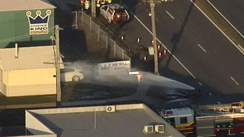 Two separate chemical leaks cause havoc on Brisbane roads
