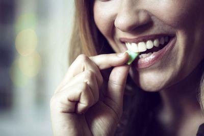 Chew sugar-free gum