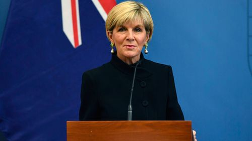 """Julie Bishop said Mr Joyce's resignation was the """"best course of action."""" (AAP)"""