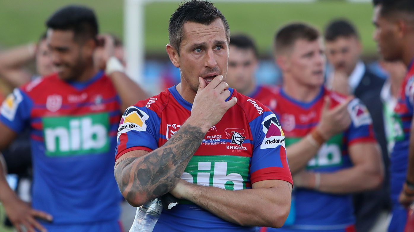 Knights coach Adam O'Brien ropeable as team blows Mitchell Pearce's 300th game