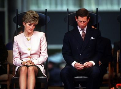 Charles and Diana in Canada on tour in 1991.