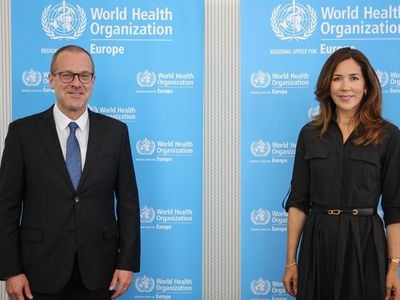 Princess Mary attends briefing at WHO European office, May 2020
