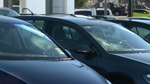 A total of 71 cars were damaged.