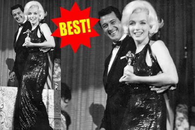 Just a few months before her death, Marilyn won a Golden Globe for her performance in <i>The Misfits</i>. And she looked darn hot accepting it!