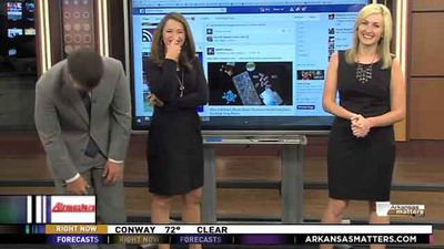 "<p>Everyone loves a good newsroom blooper, especially if said slip-up involves a newsreader dropping a sexual innuendo to snigger over.</p> <p> Step forward KARK 4 morning anchor Mallory Brooks, who earlier this week proudly beamed out to viewers that ""LeBron James is bringing a lot of sex to Cleveland.""</p> <p> Freudian slip or misread of the autocue? Whatever. Brooks quickly corrects herself, clarifying that she meant to say ""success"".</p> <p> Both co-anchors chuckle away and continue to turn the screws on their colleague, to the point where an embarrassed Brooks begs for a commercial break.</p> <p> Click through the gallery to see more red-faced, sexual innuendo laced TV moments. </p>"