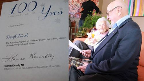 Beryl the staunch 100-year-old republican snubs birthday letter from the Queen