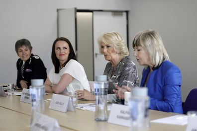 Camilla with Rachel Williams (left) at a Women's Forum in London in 2018.