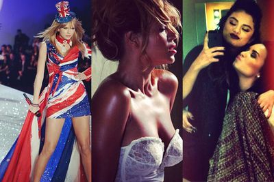 What kinda Insta-snaps do you get when the EMAs and Victoria's Secret show are on in the same week?<br/><br/>Really sexy ones!<br/><br/>From Miley's barely-there dress in Amsterdam to Taylor Swift's VS strut, check out our fave celebs acting up on social media...