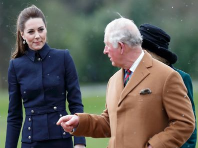 Catherine, Duchess of Cambridge and Prince Charles, Prince of Wales visit the Defence Medical Rehabilitation Centre Stanford Hall on February 11, 2020.
