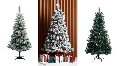 White Christmas style trees for under $100.