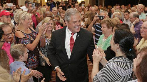 Ralph Norman celebrates his victory in the South Carolina special election. (AAP)