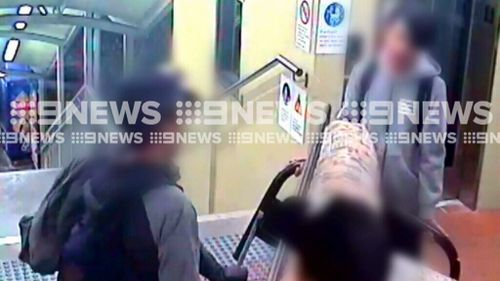 Train bosses warn that fines will be given for objects blocking doors. (9NEWS)