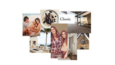 Classic, effortless luxury, inspired by Cindy Crawford and her daughter Kaia Gerber.
