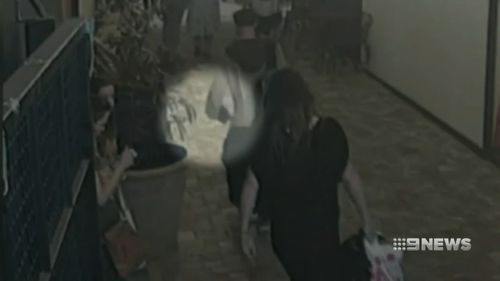 The two were seen on CCTV carrying the kittens into the centre before dropping them into a garden bed and leaving.