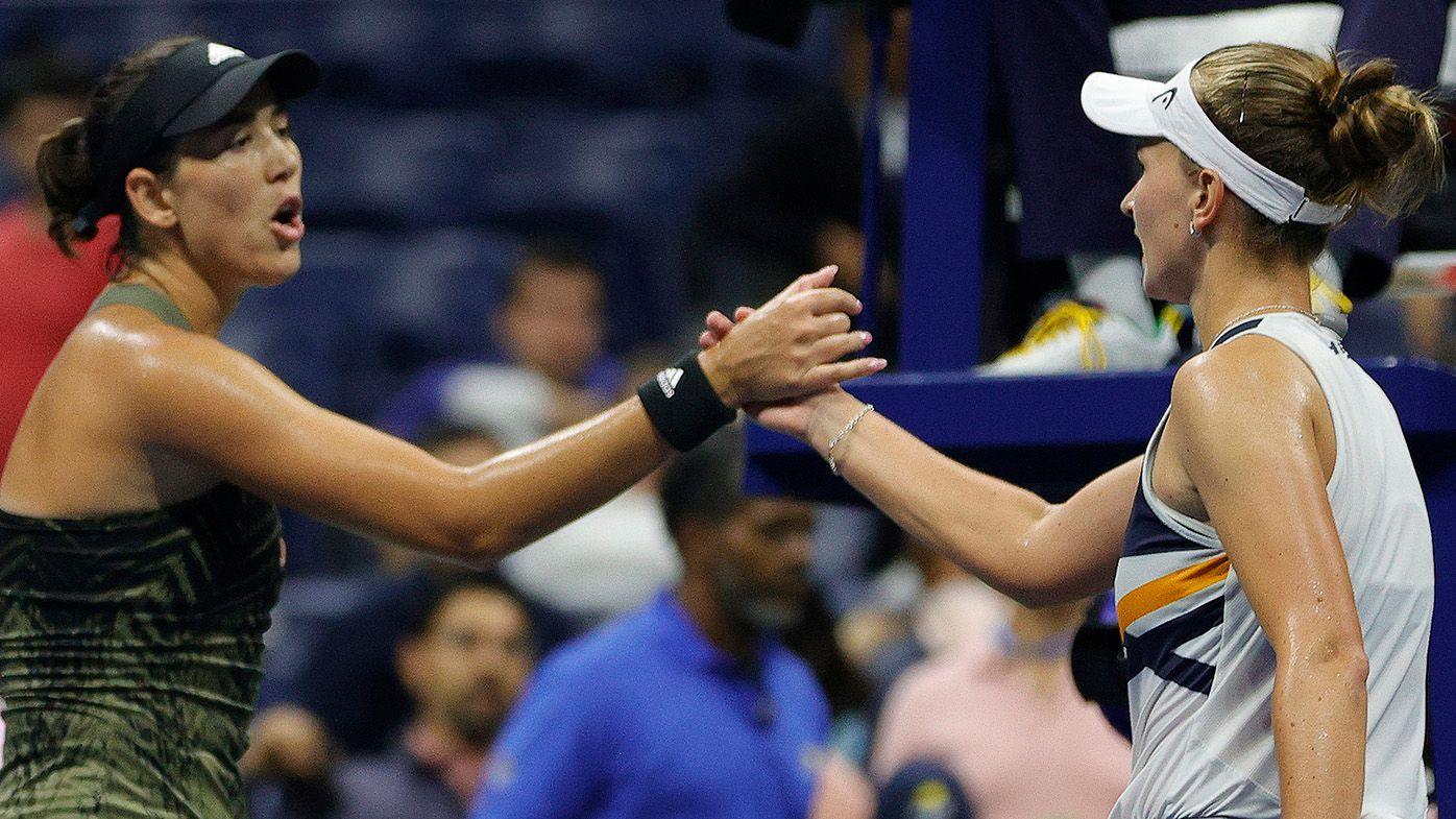 Bristling Garbine Muguruza's icy encounter with Barbora Krejcikova after drama-filled US Open defeat