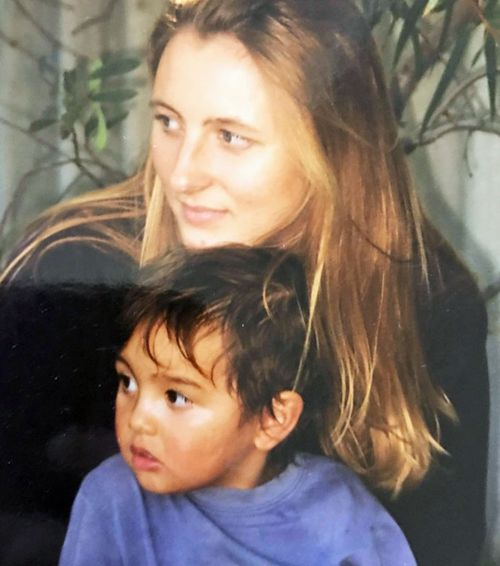 Jesse Vilkelis-Curas as a young child, pictured with his mother Kristina.