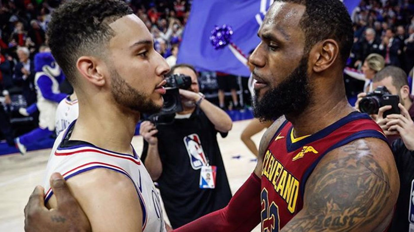 Ben Simmons and LeBron James
