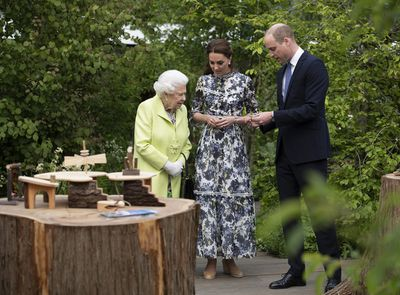 The Queen with the Duke and Duchess of Cambridge, 2019