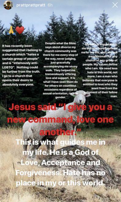 Chris Pratt on Christianity