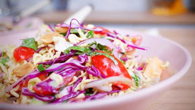 2-minute noodle salad so good the kids will beg you for it
