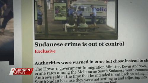 Sudanese alleged criminals have been targeted in the media.