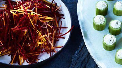 "Recipe: <a href=""http://kitchen.nine.com.au/2017/10/20/12/46/mark-best-salad-of-beetroots"" target=""_top"">Mark Best's salad of beetroots</a>"