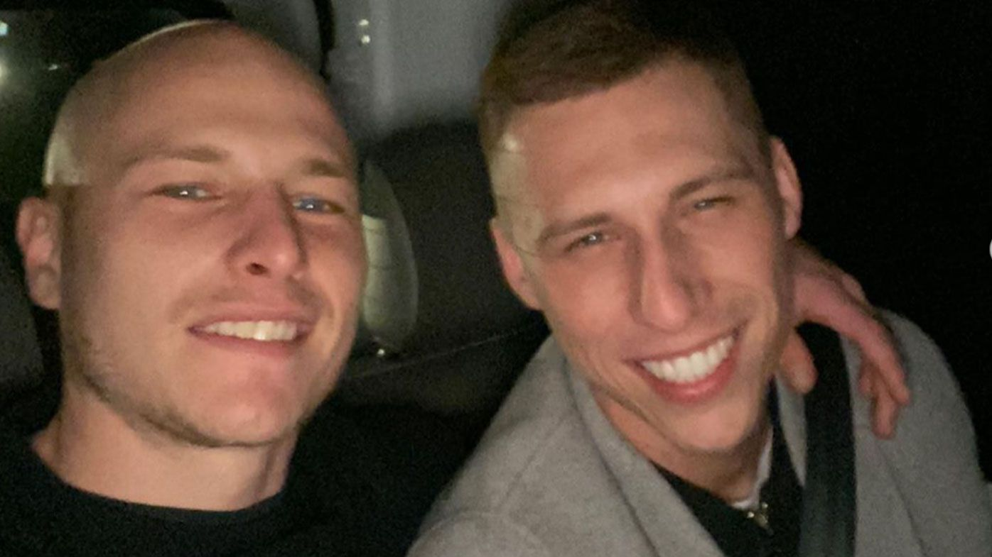 Aaron Mooy with brother Alex Mooy