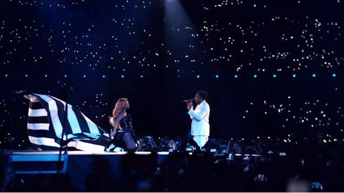 Beyonce and Jay Z initially screened the video during their recent On The Run tour. (YouTube)