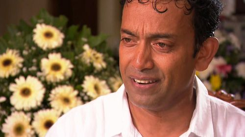 Sudesh Kolonne lost his wife and 10-year-old daughter in the terror attack