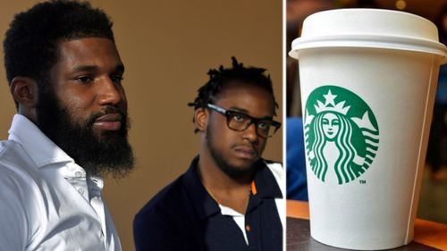 Rashon Nelson, (left), and Donte Robinson, both 23, reached a settlement with Starbucks. (AP).