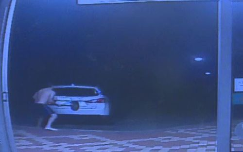 The store owner ran after the offenders, smashing the back of their car. (Supplied)