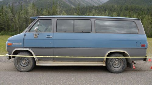 The couple's bodies were found not far from their blue Chevrolet van.