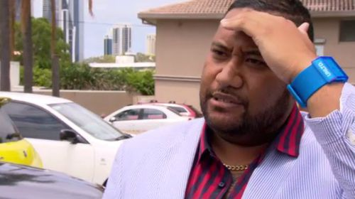 A Brisbane mother says she's caught in a love triangle, alleging her ex-partner is in a relationship with Lorenzo Kirisome (pictured).