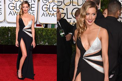 <i>Arrow</i> star Katie Cassidy also went for a bold cut-out.
