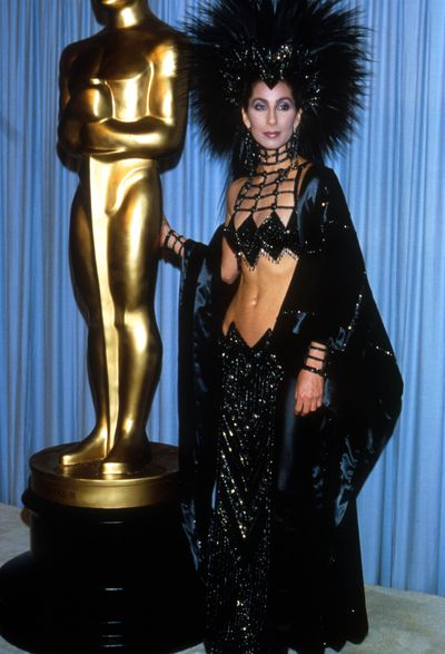 Cher at the Academy Awards in Los Angeles, March, 1986